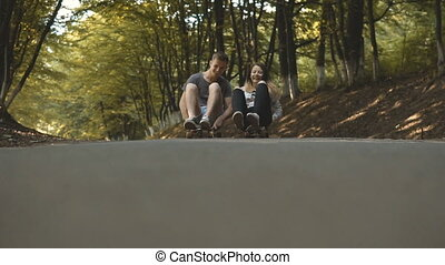 Hipsters Couple Having Fun - Hipster couple having funny...