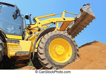 loader at construction work