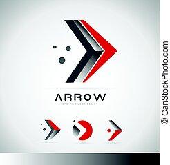 Arrow forward concept logo icon design