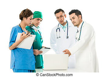 Isolated Image of Medical People Group Meeting