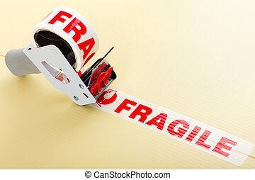 frágil, entrega, servicio