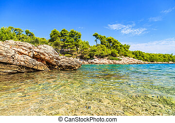 Beautiful adriatic rocky coastline - Landscape photo of...