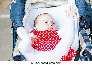 Adorable baby girl - Photo of adorable baby girl laying in...