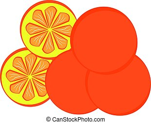 Orange isolated on white background.
