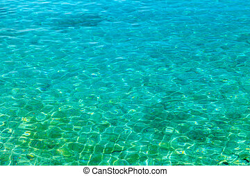 Seawater surface texture - Photo of clear turquoise seawater...