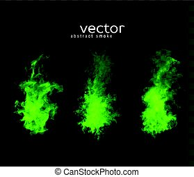 Vector illustration of smoky shapes. Isolated transparent...