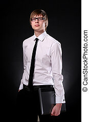 business man young and attractive - business man young and...