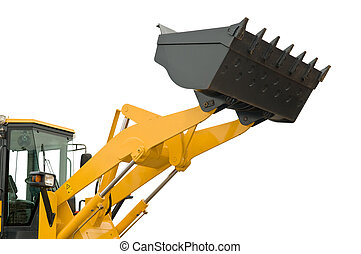 isolated loader shovel - risen new loader excavator scoop...