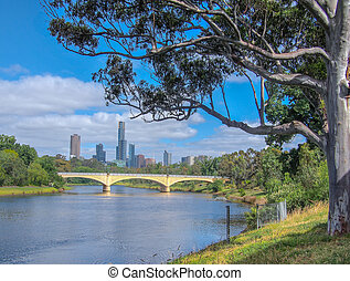 Yarra River and Melbourne City