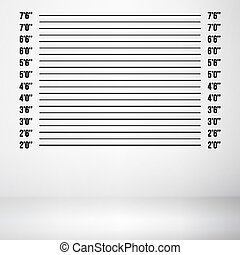 Police Mugshot Vector. Police Lineup Isolated On White...