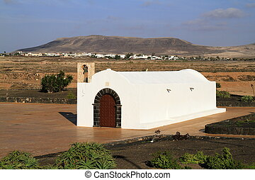 The small church La Ermita in El Cotillo