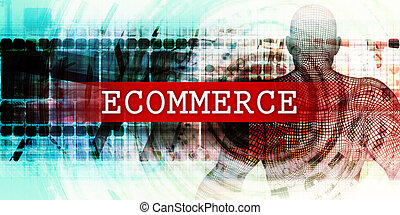Ecommerce Sector with Industrial Tech Concept Art