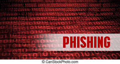Phishing Security Warning on Red Binary Technology...