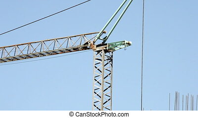 Construction site crane against  sky