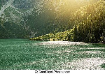 Morskie Oko Mountain Lake. Tatra Mountains Landscape....