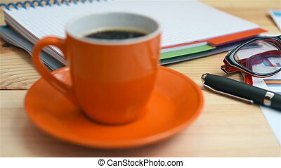 Cup Of Coffee, Investment Charts And Stock Statistics,...