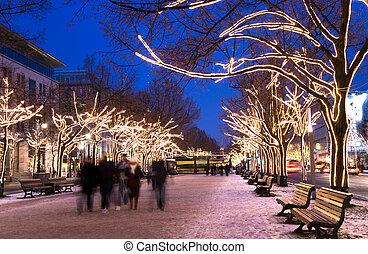 berlin advent - berlin unter den liinden with christmas...