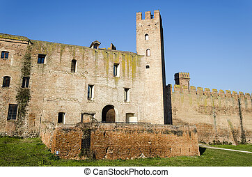 middle ages wall - view of the middle ages wall of...