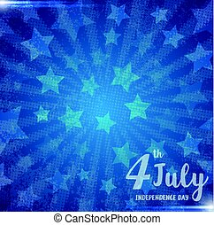 Illustration of an 4 july Independence day greeting card