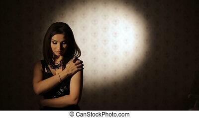 Sad Woman Turn Back with hope