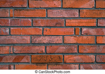 Old red brick wall background, texture.