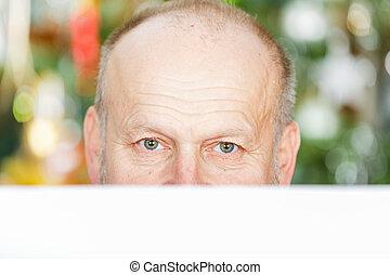 Handsome elderly man - Portrait of handsome elderly man...