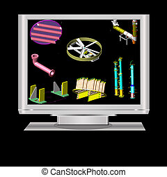 Computer aided design - an isolated lcd television...