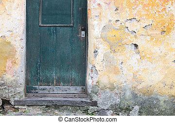 Rustic Wall Door Detail