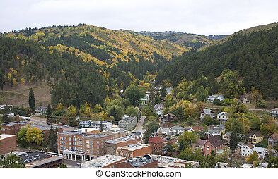 Deadwood South Dakota as seen from the city cemetery