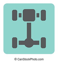 car axle icon - Axle part for car vector icon.