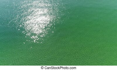 drone flying beautiful ocean background - Aerial view, top...