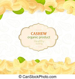 vintage flyer with pile of tasty Cashew for your design
