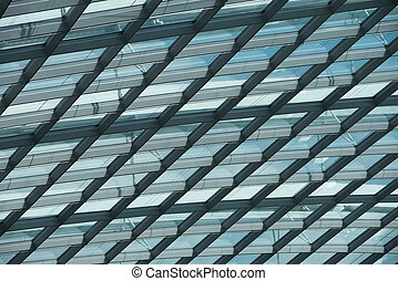 Building structure - Skylight roof structure of glass and...