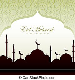 eid festival card beatiful background