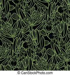 Graphic jojoba pattern