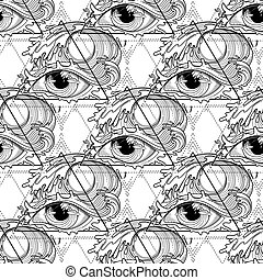 Abstract graphic eye - Abstract grphic eye decorated with...