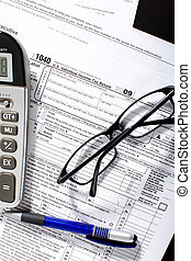 Income Tax Return Form - Form 1040 Standard US Income Tax...