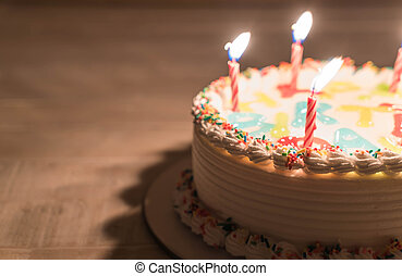 蛋糕, 生日, 愉快