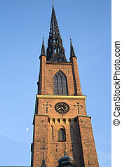 Tower of Riddarholmen Church; Stockholm; Sweden; Europe