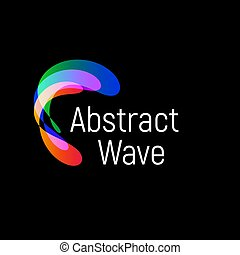 Wavy abstract vector logo. Smooth gradients and colorful...