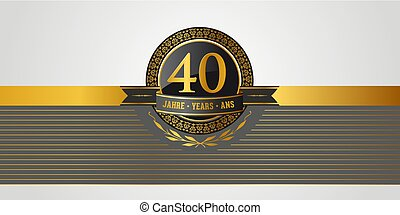 40th birthday, jubilee, anniversary pictogramm