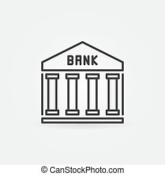 Bank outline icon