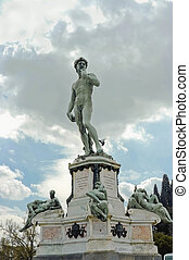 David sculpture from Michelangelo - front view of...