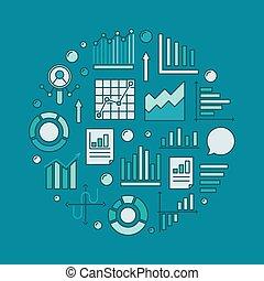 Analytics round illustration