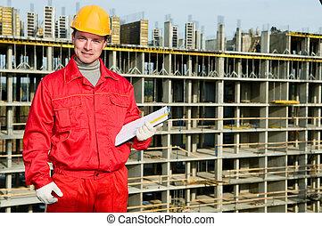 smiling builder inspector worker