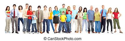 Happy people Isolated over white background