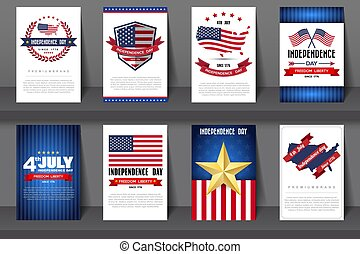 ww-243 - Set of greeting card ,Independent day...