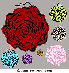 Abstract Floral Element - An image of abstract floral...