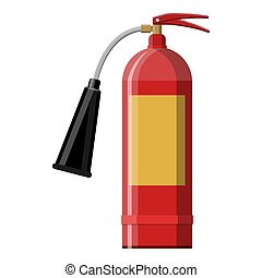 Fire extinguisher. Fire equipment. Vector illustration in...