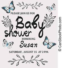 baby shower - vector baby shower